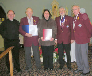 KOFC4949 Donation St. James School & and Schubert 2012