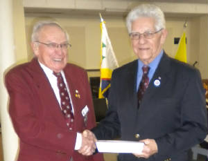 KOFC 4949 New Member Frank Flasch welcomed by Bro. Romeo Sibilleau
